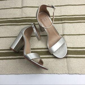 A new day silver chunky heels size 6 w